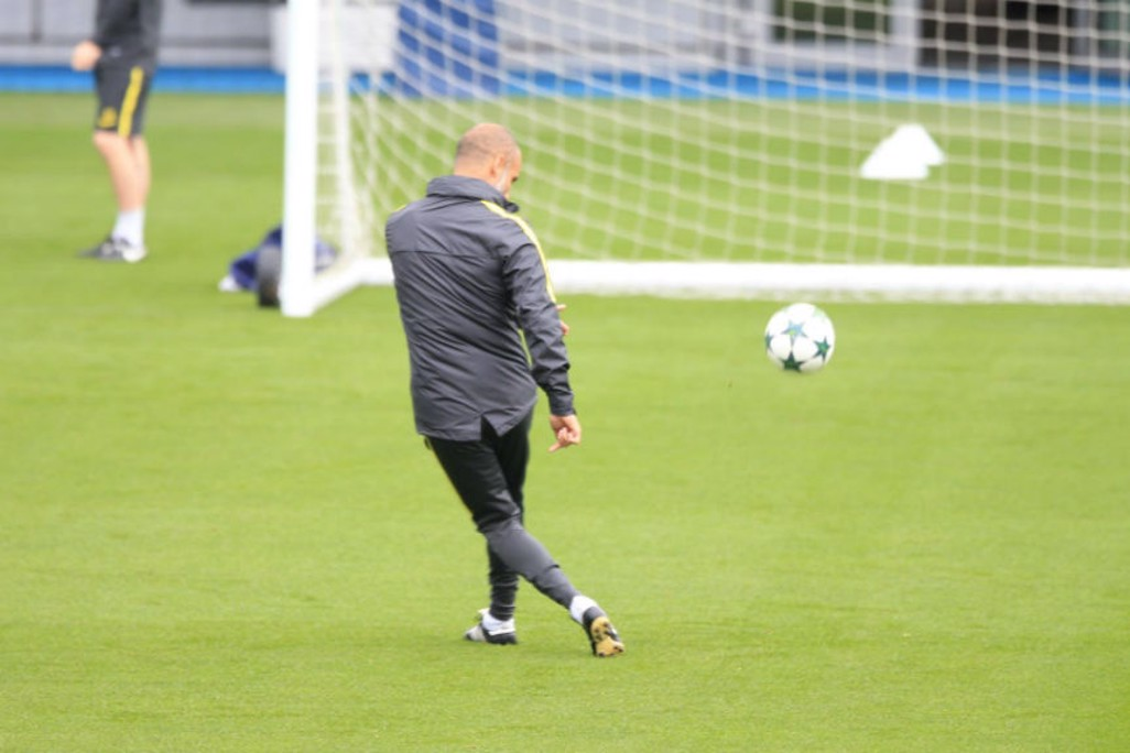 STILL GOT IT: Boss Pep Guardiola shows how it's done