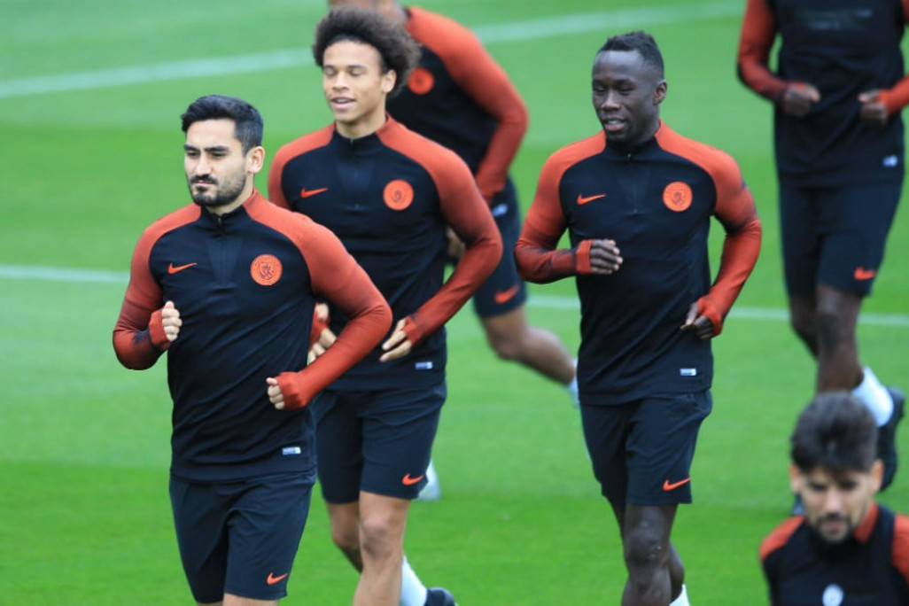 DRIVING FORCE: Ilkay Gundogan goes through his paces