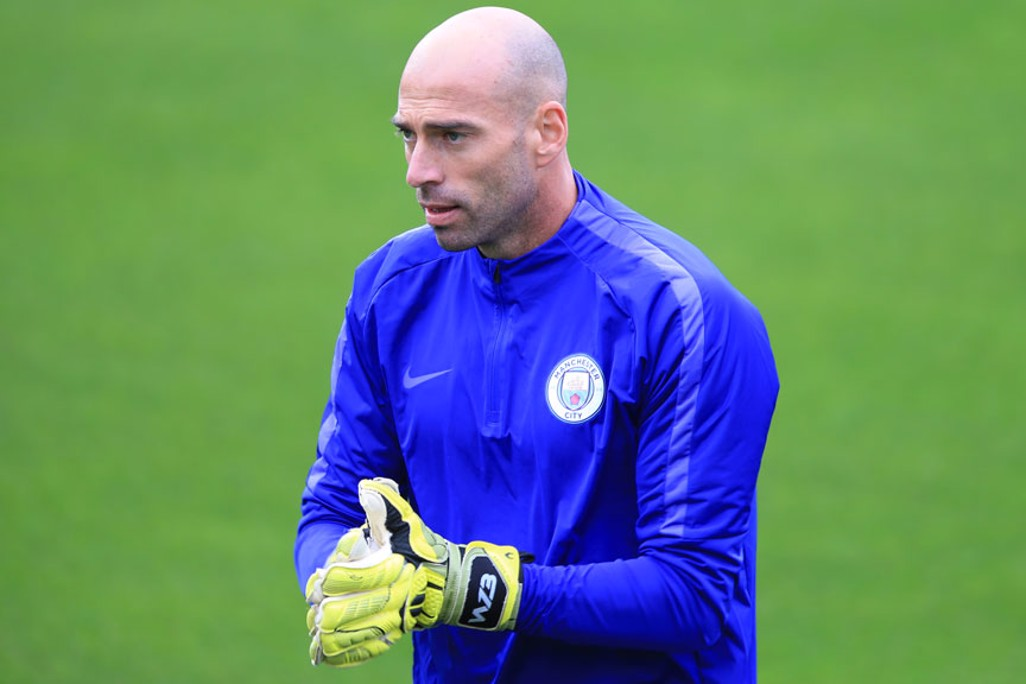 HAND IT TO HIM: Willy Caballero