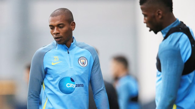 FOCUSED: Fernandinho and Kelechi have their eyes on the prize...