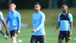 FOCUSED: Ilkay Gundogan, hard at work