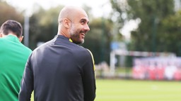 RELAXED: Guardiola has impressed the Scottish press.
