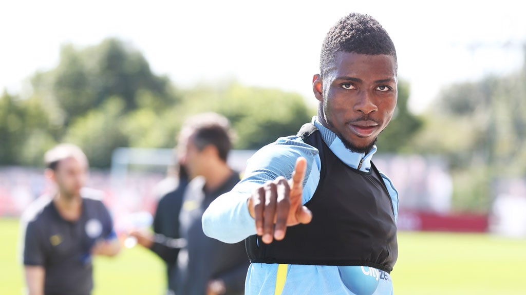 NUMBER ONE: Kelechi spots the camera
