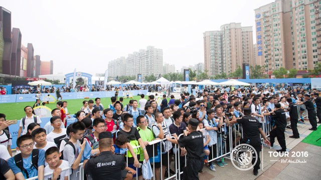 CITY SUPPORT: Fans wait for the players
