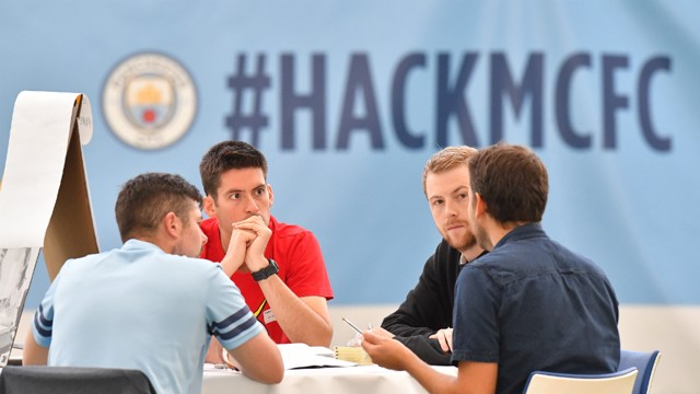 DOWN TO WORK: Hackers included experts and students with backgrounds in tech, data and digital product design.