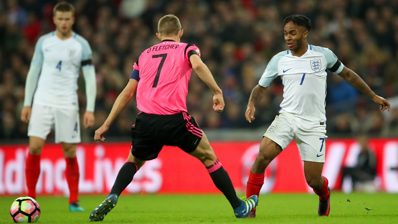 TOP FORM: Sterling wows the Wembley crowds