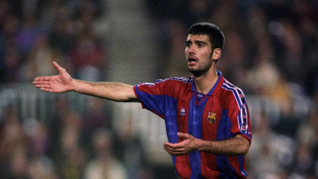 THE GENERAL: Guardiola was a metronomic presence at the base of midfield.