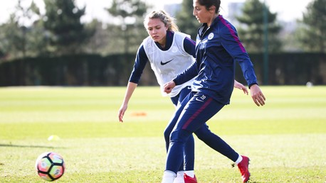 ACTION: Nadia Nadim plots her next move under pressure from Claire Emslie
