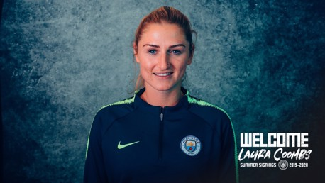 NEW BLUE: Laura Coombs.