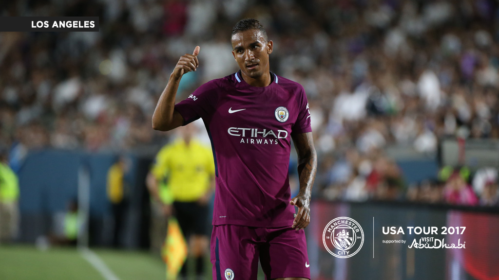 THUMBS UP: Danilo in action against his former club