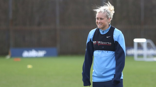 The camera snaps Steph Houghton at a quiet moment