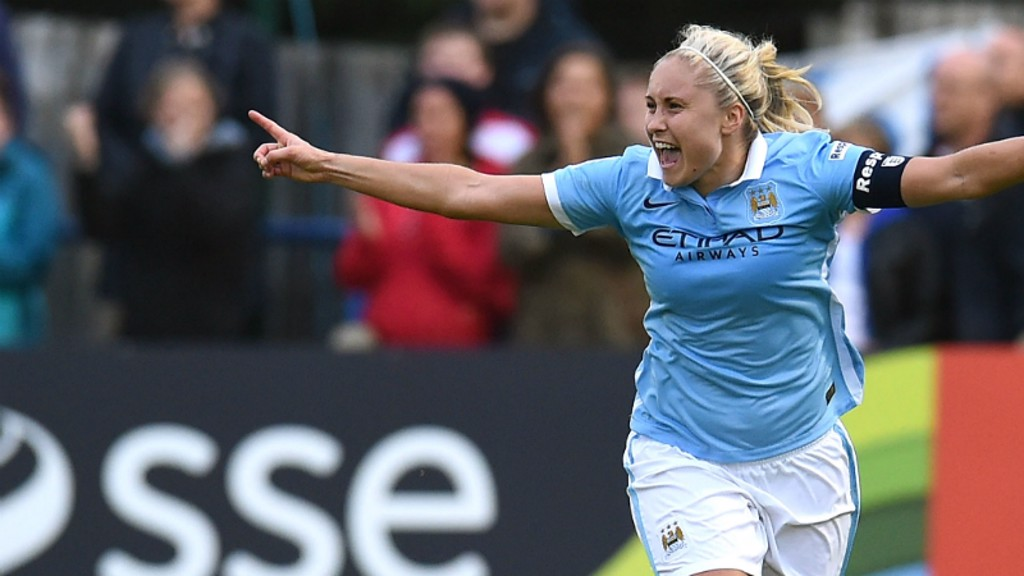 Steph Houghton celebrates