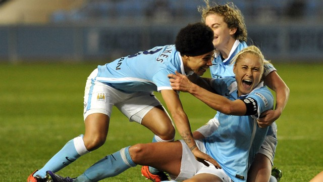 steph houghton goal celebration v notts county