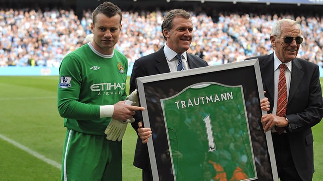 Shay Given and Bert Trautmann