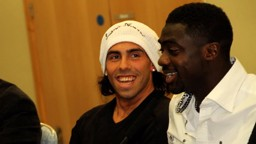 tevez and toure at the fans forum