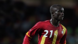 Abu in action for Ghana