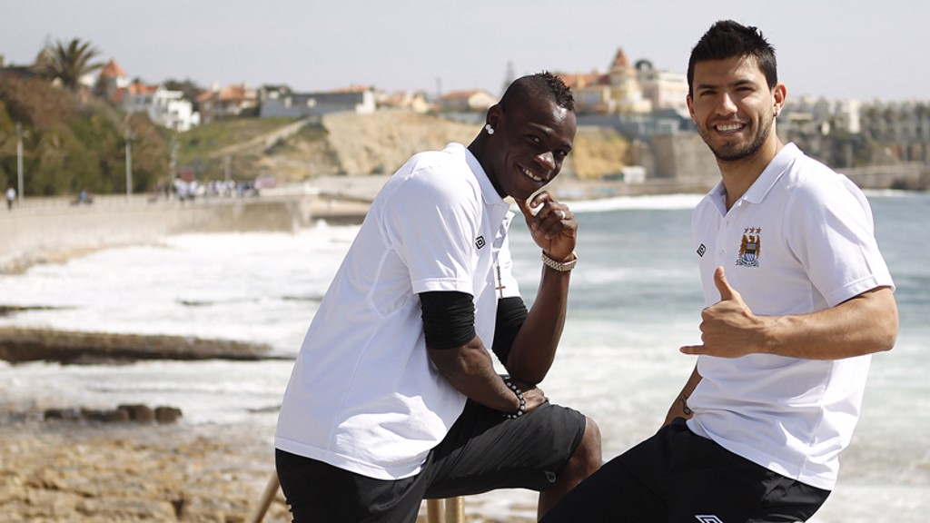 Mario and Sergio are all smiles in Lisbon