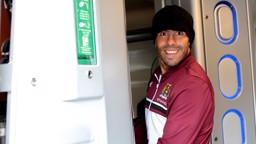 Carlos hops aboard a train destined for Wembley although it's fair to say that his last visit to the stadium in a City shirt would not end happily!