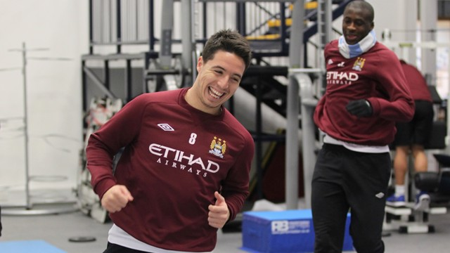 Yaya and Samir get up to mischief in the gym