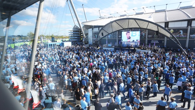 WARM UP: Pre-match entertainment at City Square.