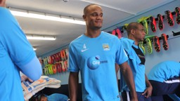 Vincent Kompany looks ready for his first day back at Carrington