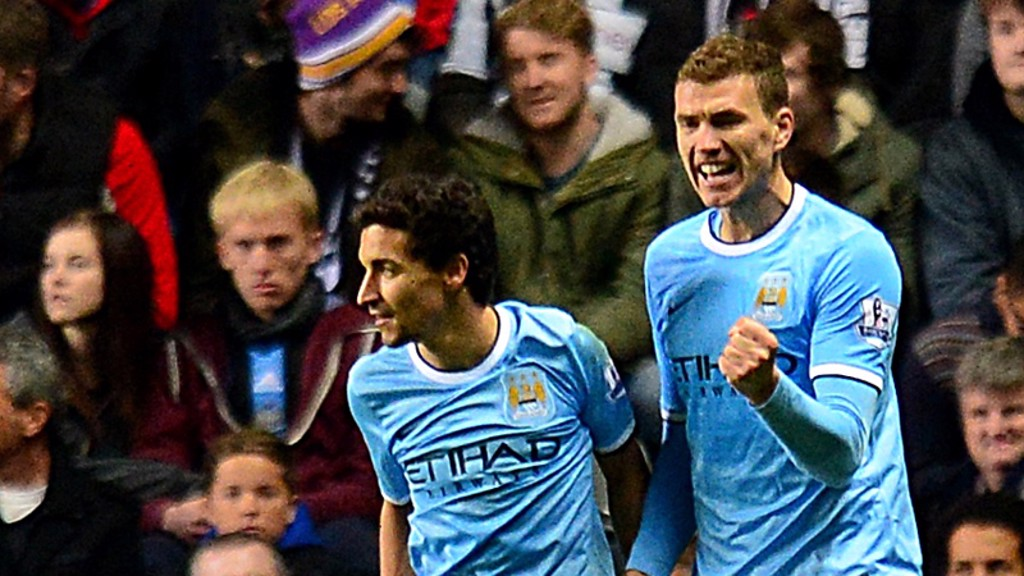 Dzeko secures a 2-0 win over Newcastle