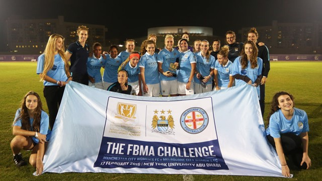 Manchester City Women and the FBMA Challenge Trophy