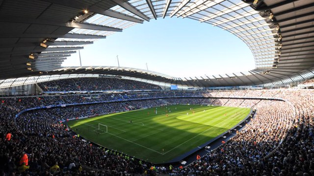 City of Manchester Stadium internal during match