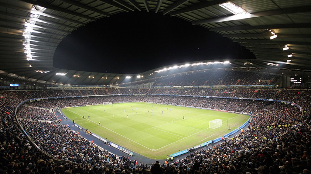 City of Manchester Stadium internal night shot