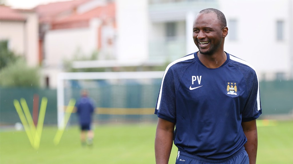 Vieira happy with how training is going