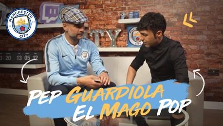 Truques de mágica encantam Pep Guardiola