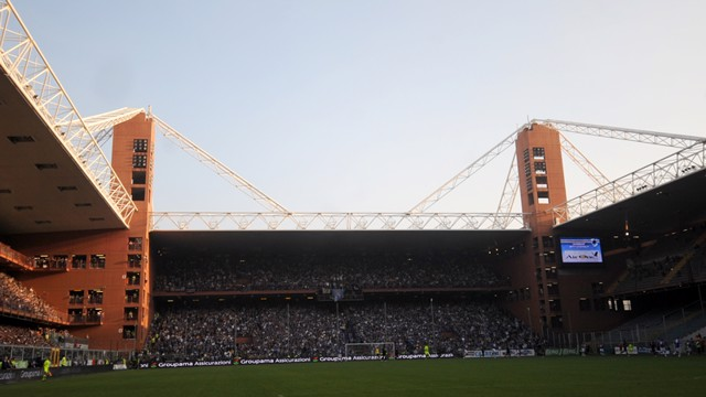 Sampdoria and Genoa stadium