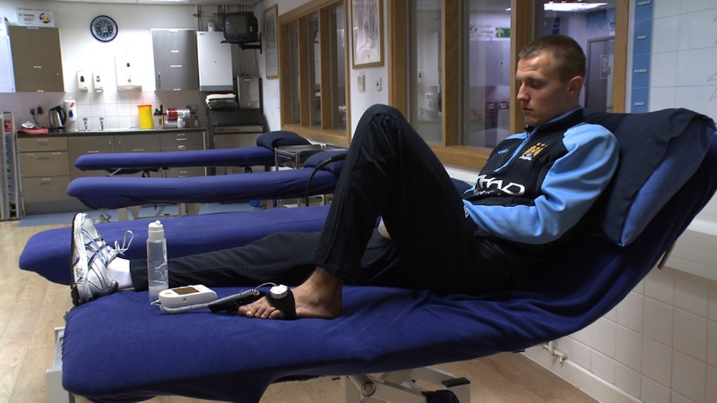 David Ball in treatment room Carrington