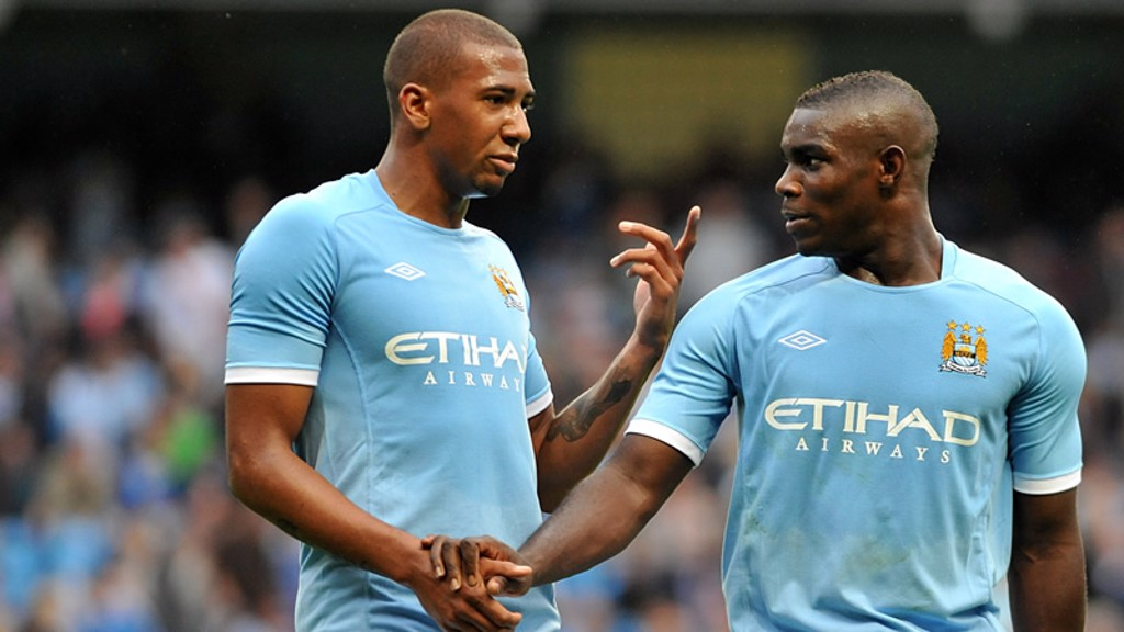 MCFC's Jerome Boateng and Micah Richards