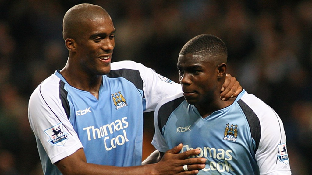 Sylvain Distin Micah Richards 0607