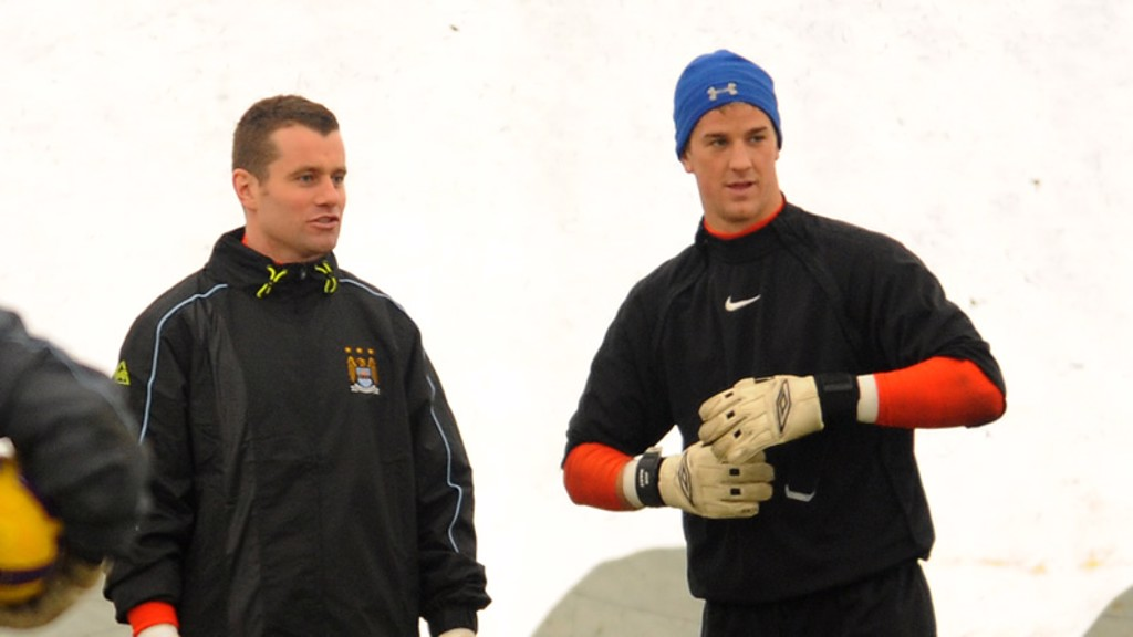 Shay Given and Joe Hart in training 0809
