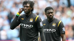 Adebayor and Toure