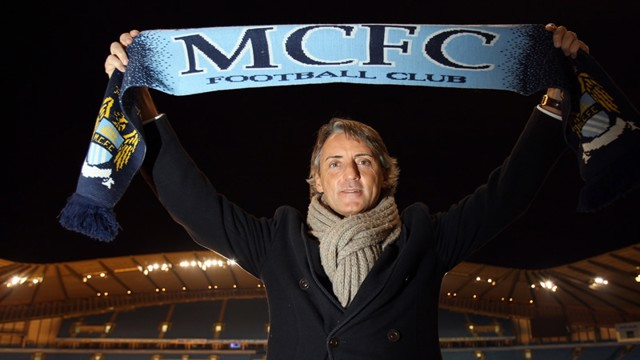 Mancini with scarf