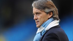 Manchwester City Manager Roberto Mancini