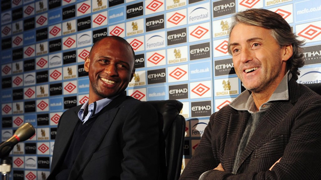 Mancini and Vieira press conference
