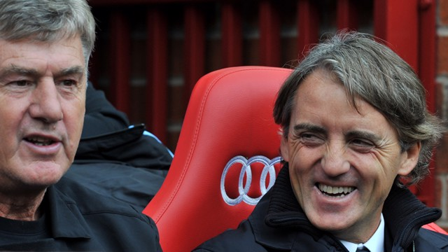Mancini enjoys the win
