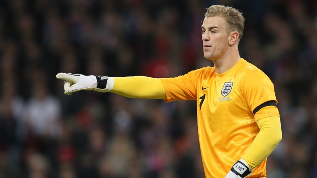 Joe Hart is fully focused against Denmark back in March