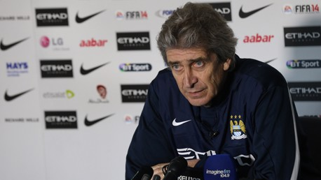 """Pellegrini: """"Estamos centrados en el partido ante el Wigan"""""""