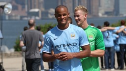 The City captain looking very content