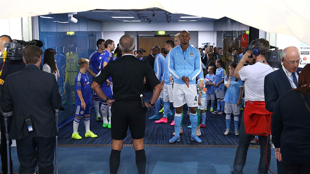 City v Chelsea: Tunnel cam