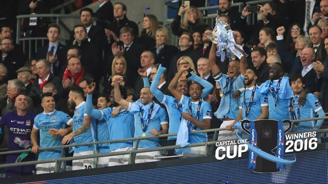 SILVERWARE: City lift the Capital One Cup