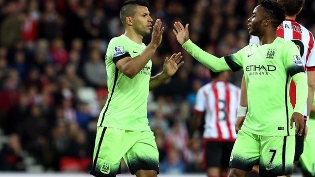 Sergio Aguero and Raheem Sterling