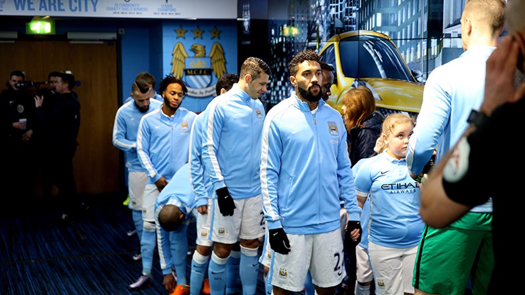 City v Everton: Tunnel Cam