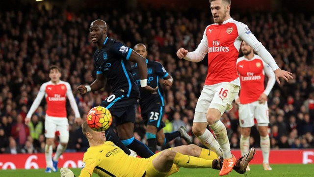 ONE ON ONE: Joe Hart thwarts Aaron Ramsey