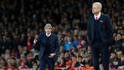 TITLE FIGHT: Manuel Pellegrini at Arsenal